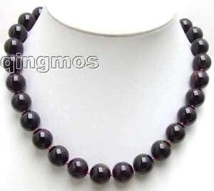 SALE-Big-13-14mm-Natural-Round-garnet-gemstone-Beads-17-034-necklace-nec5540