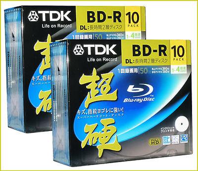 50 GB BluRay Disc Mitsubishi Verbatim Blu ray High Grade Made in Japan Printable