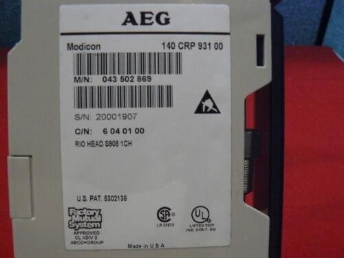 140CRP93100 Used Modicon RIO HEAD Module 140-CRP-931-00