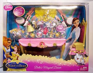 Disney-Beauty-the-Beast-Belle-039-s-Magical-Dinner-Playset-for-Belle-Barbie-Doll