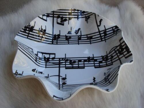 Sheet MUSIC Nut Bowl Music Gift 6 Across Acrylic 1 1/2 D Brand NEW CUTE!