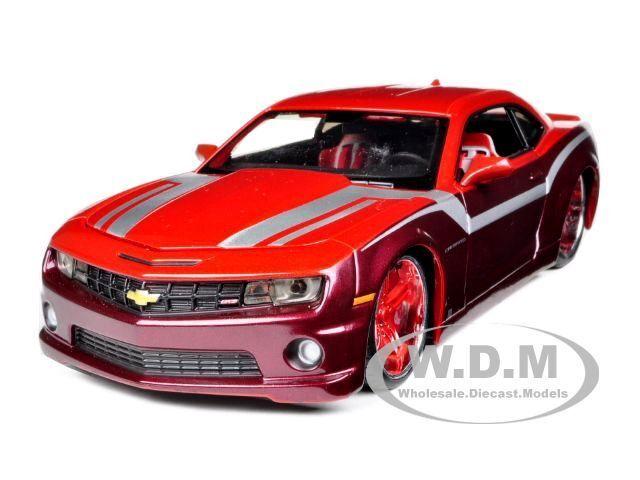 2010 CHEVROLET CAMARO SS RS BURGUNDY CUSTOM 1:24 MODEL CAR BY MAISTO 31359