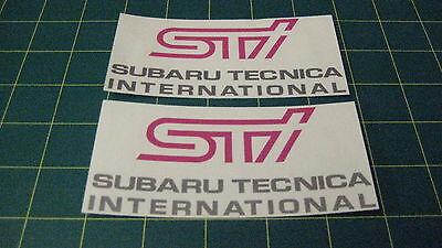 Subaru Impreza 150mm x 85mm Fog Lamp Cover Decals Stickers Graphics STI WRX