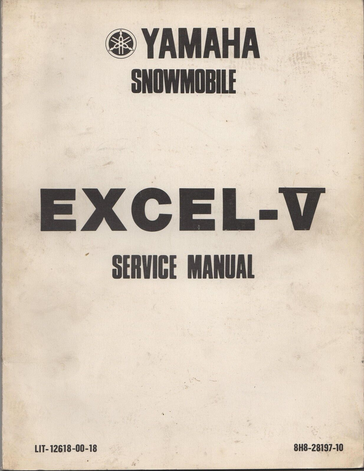 1979 YAMAHA SNOWMOBILE EXCEL-V SERVICE  MANUAL  new style
