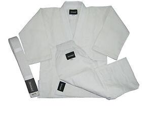 JUDO-Martial-Arts-Uniform-Gi-Jiu-Jitsu-Aikido-WithFree-White-Belt-Thread-R-Brand