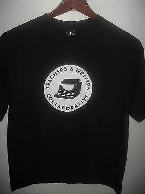 TWC Teachers & Writers Collaborative New York City Typewriter Black T Shirt Lrg