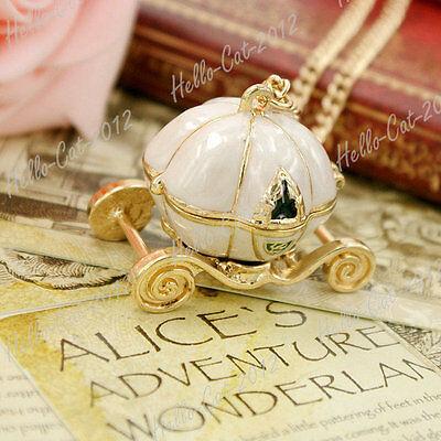 Fashion Alloy Fairy Tale Pumpkin Pendant Cart Chain Necklace Wholesale FJ0106