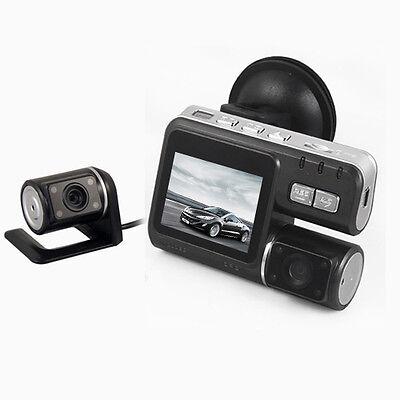 "Mini X6 HD 720P Dual Lens Car Dash Camera Video 2"" Screen Register Rear view Cam"
