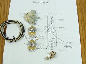 new tele pots switch wiring kit for fender telecaster guitar ebay. Black Bedroom Furniture Sets. Home Design Ideas