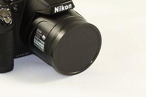 Push UP Front Lens Cap Cover For Nikon Coolpix P500 Digital Camera + Cap Holder