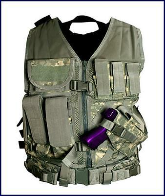 NcSTAR PVC Heavy Duty Tactical Vest for Hunting/Airsoft Paintball **MILITARY**