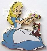 Disney-Alice-in-Wonderland-Framed-7-Pin-Set-Alice-amp-Dinah-Pin-Only