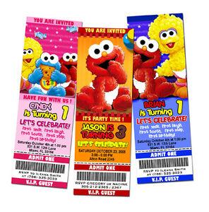 elmo sesame street birthday party invitation ticket 1st - baby, Party invitations