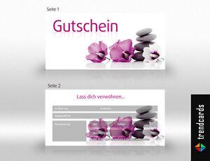 Wellness gutschein vorlage  50 Gutscheinkarten Geschenkgutschein Gutscheine Wellness, Massage ...