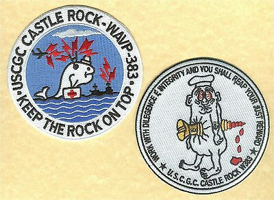 USCGC CASTLE ROCK reunion 2 patches W5183 W5194 USCG Coast Guard  cutter patch