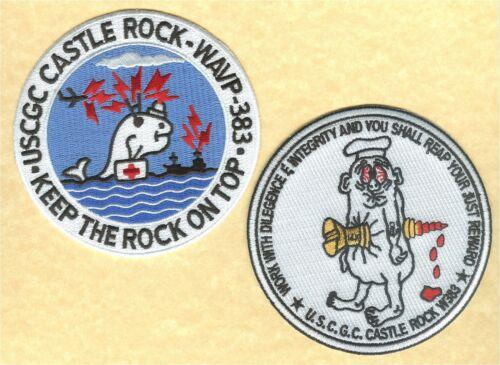 USCGC CASTLE ROCK reunion 2 patches W5183 W5194 USCG Coast Guard  cutter patch