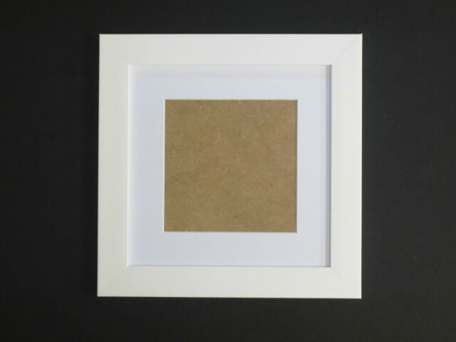 White 7x7 Square Picture Photo Frame Mount 4.75x4.75 Hang | eBay
