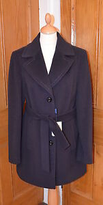 RRP £269. Italian Teresa Tardia Purple Ladies Cashmere Coat. UK ...