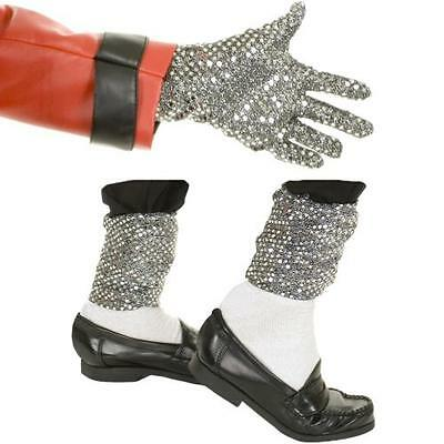 Michael Jackson Sequin Glove & Leggings Pop Star Halloween Costume Accessory