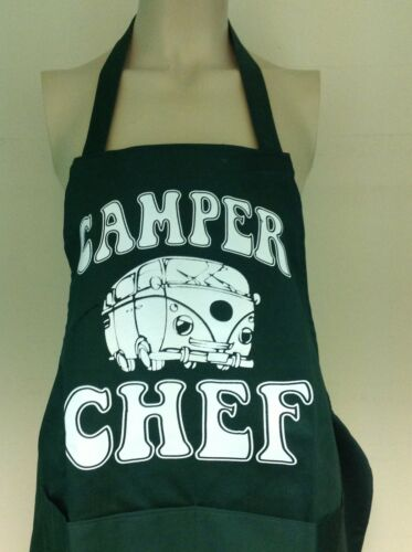 VARIOUS COLOURS MENS WOMENS BBQ CHEFS COOKS APRONS CAMPER VAN STYLE