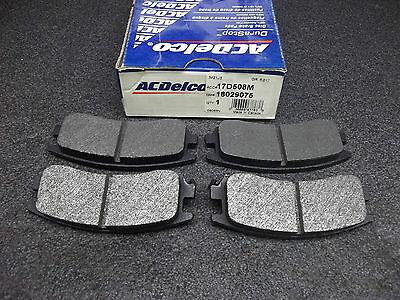 +New ACDelco DuraStop 17D508M Rear Brake Pads GM 18029075