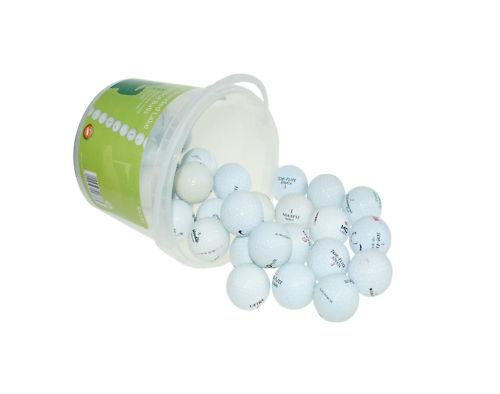 BoyzToys Branded Practice Lake Golf Balls (30 Pack) in Handy Carry Bucket