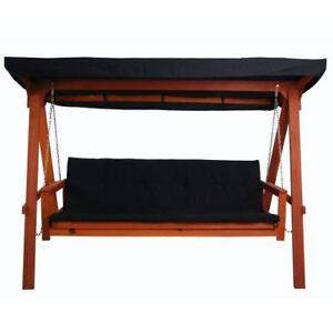 hollywoodschaukel bahama liege bett funktion auflage dach meranti gartenm bel ebay. Black Bedroom Furniture Sets. Home Design Ideas