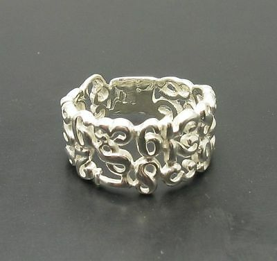 STYLISH STERLING SILVER RING BAND SOLID 925 FIGURES NEW