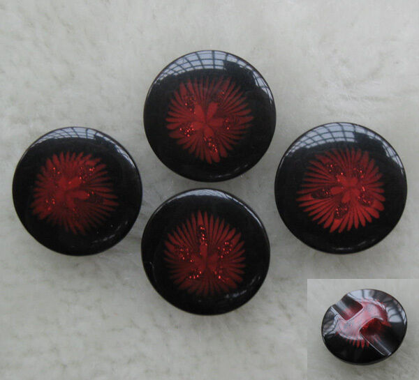 20mm Resin Button sewing/Appliquse backhole Red F253