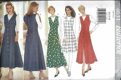 4631 UNCUT Butterick SEWING Pattern Misses Jumper Top Fall SEW SEWING OOP FF