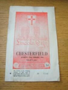 22021964 Lincoln City v Chesterfield  Creased Folded amp Pen On Front No obv - <span itemprop=availableAtOrFrom>Birmingham, United Kingdom</span> - Returns accepted within 30 days after the item is delivered, if goods not as described. Buyer assumes responibilty for return proof of postage and costs. Most purchases from business s - Birmingham, United Kingdom