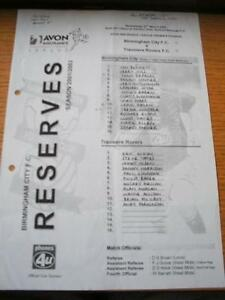 27032002 Birmingham City Reserves v Tranmere Rovers Reserves  Team Written In - <span itemprop=availableAtOrFrom>Birmingham, United Kingdom</span> - Returns accepted within 30 days after the item is delivered, if goods not as described. Buyer assumes responibilty for return proof of postage and costs. Most purchases from business s - Birmingham, United Kingdom