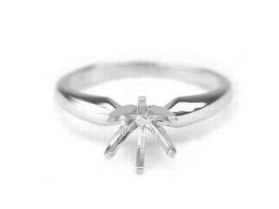 14k WHITE GOLD DIAMOND RING SOLITAIRE SETTING 3ct - 4ct