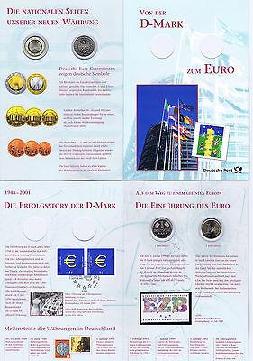 Diplomatisch Brd 2002: Euro-numis-erinnerungsblatt Mit Nr. 2234 + 2000! 1 Dm+ 1 Euro! 1906 StraßEnpreis