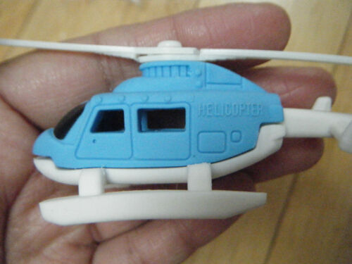 IWAKO JAPANESE STYLE CUTE NOVELTY HELICOPTER ERASER RUBBERS 4 COLOURS BLUE RED