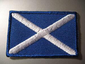 SCOTLAND-Scottish-Flag-Small-Iron-On-Patch-Saint-Andrew-039-s-Cross-3-x-4-5cm