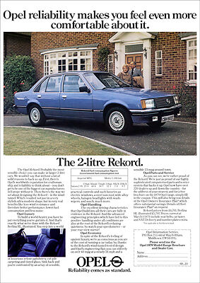 OPEL REKORD RETRO A3 POSTER PRINT FROM 70's ADVERT