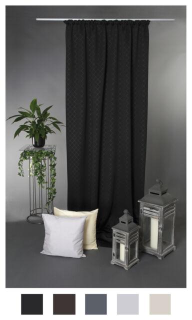Verdunklungsgardine Kräuselband ca. 135x245 Vorhang Blickdicht Gardine Blackout