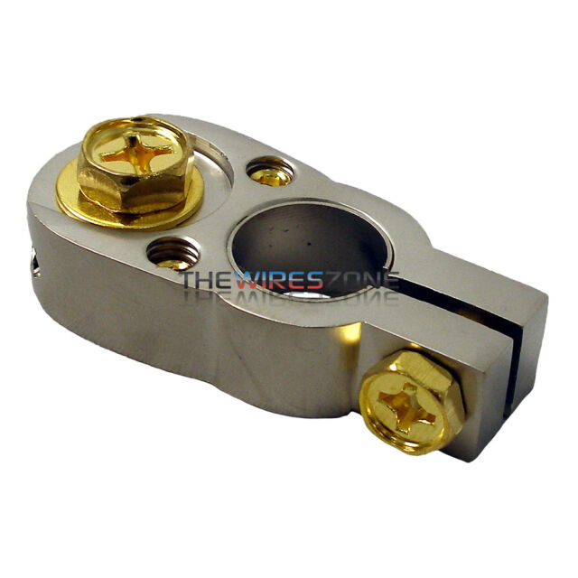 THE WIRES ZONE BT2G HIGH QUALITY POSITIVE & NEGATIVE 2/8 GAUGE BATTERY TERMINAL