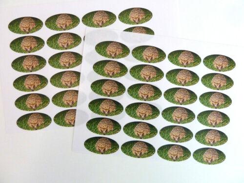 Tarjetas etiquetas Para Envoltorio De Regalo Bolsas Sobres Erizo Oval Sello etiquetas