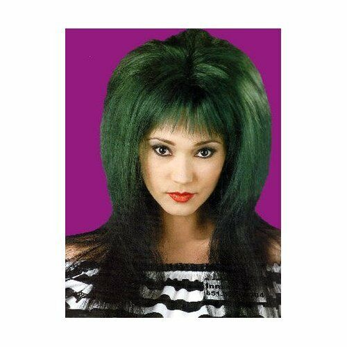 Gothic Glam Two Tone Rave Adult Costume Wig 2 COLORS