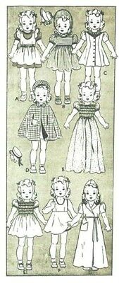 "VTG 10"" DOLL CLOTHES PATTERN 454"