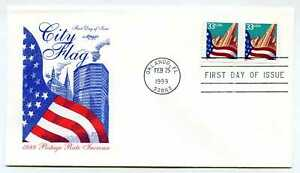 3281-Flag-over-City-S-A-Coil-Artmaster-pair-FDC