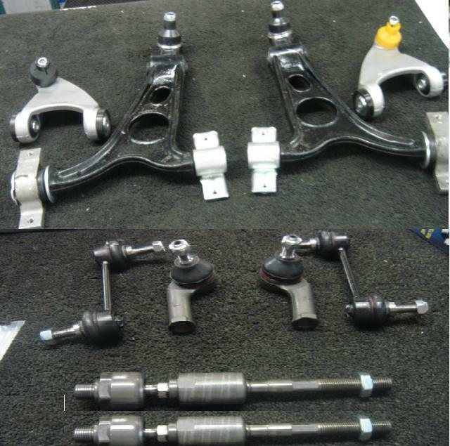 ALFA ROMEO 147 156 GT SUSPENSION KIT WISHBONE ARMS INNER OUTER TIE ROD END LINKS