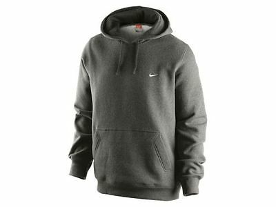 Nike Men's Classic Fleece Hoodie Charcoal Heather Gray 071 OTH Pullover