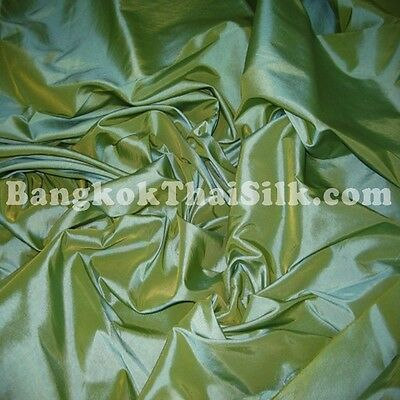 MOSS GREEN TAFFETA FAUX SILK FABRIC for BRIDESMAID DRESS WEDDING DRAPE SKIRT