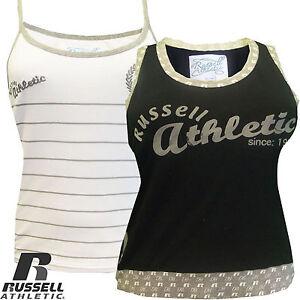 Ladies-Running-Gym-Vest-Sleeveless-Training-Russell-Athletic