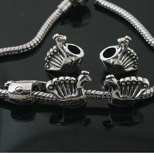 7pcs Tibetan Silver hen design spacer Beads Fit Bracelet L0116