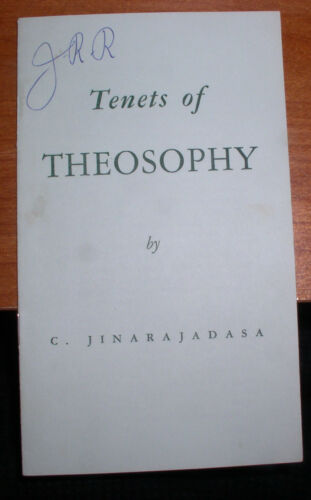 1960'S BOOKLET TENETS OF THEOSOPHY BY C. JINARAJADASA