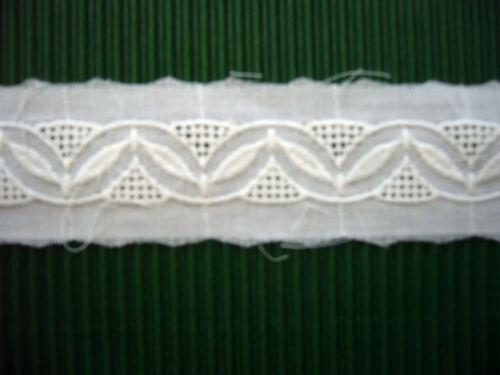8,50 m weiße Einsatzbaumwollspitze EBS verschiedene Varianten//eigene Herstellung